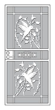 Hummingbird Series Mascotte Home Security Storm Doors Craftsman Custom Portland Oregon