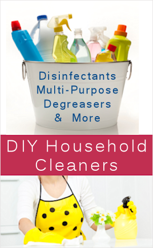 A variety of homemade cleaners including Kitchen