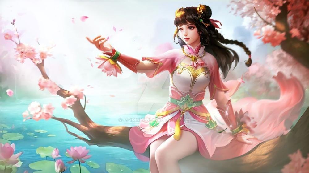 Guinevere Lotus By Makinig On Deviantart Mobile Legend Wallpaper Miya Mobile Legends Mobile Legends