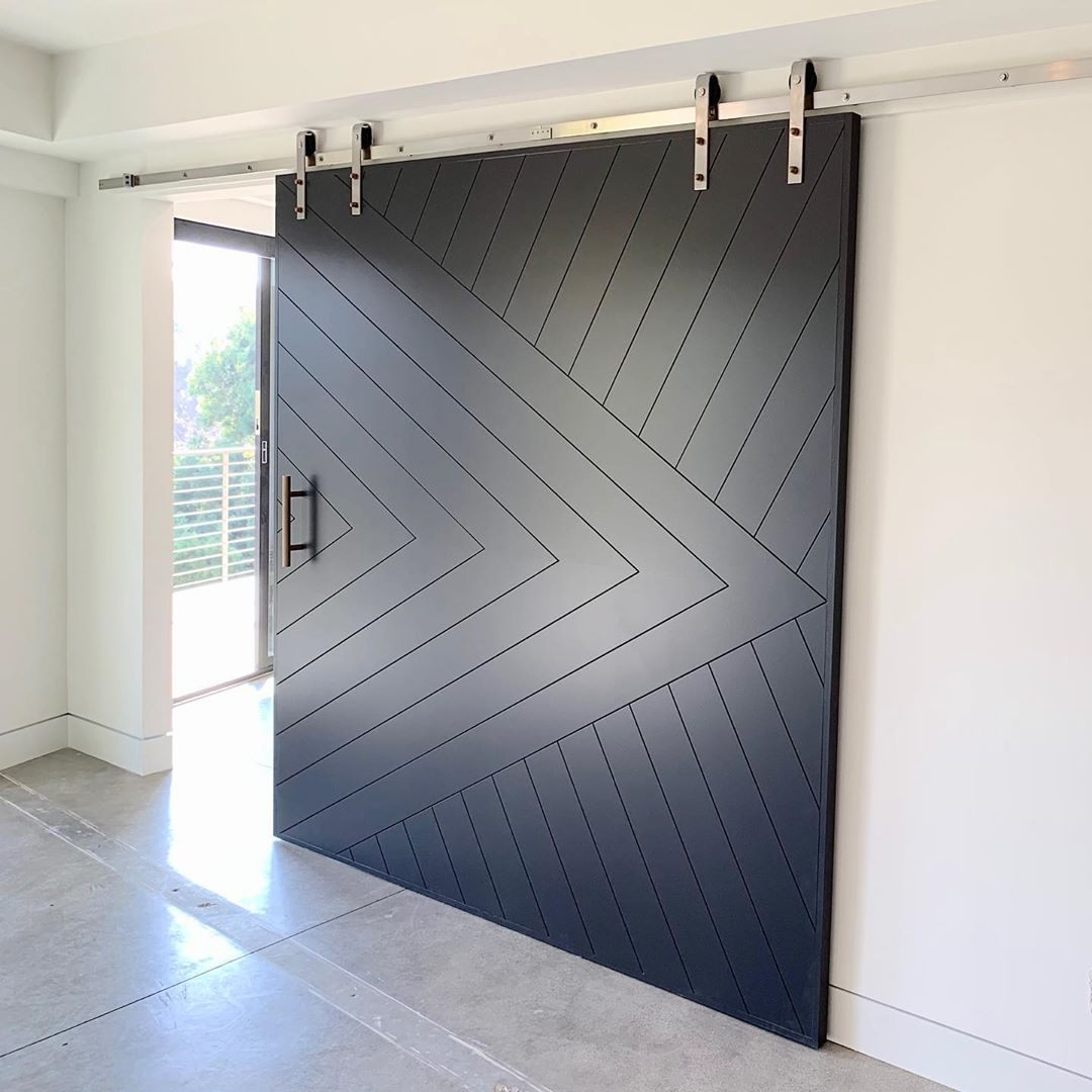 Urban Wall Design On Instagram Guess How Wide This Door Is Urbanwalldesign Barndoors Barndoo Wall Design Dark Interiors Design