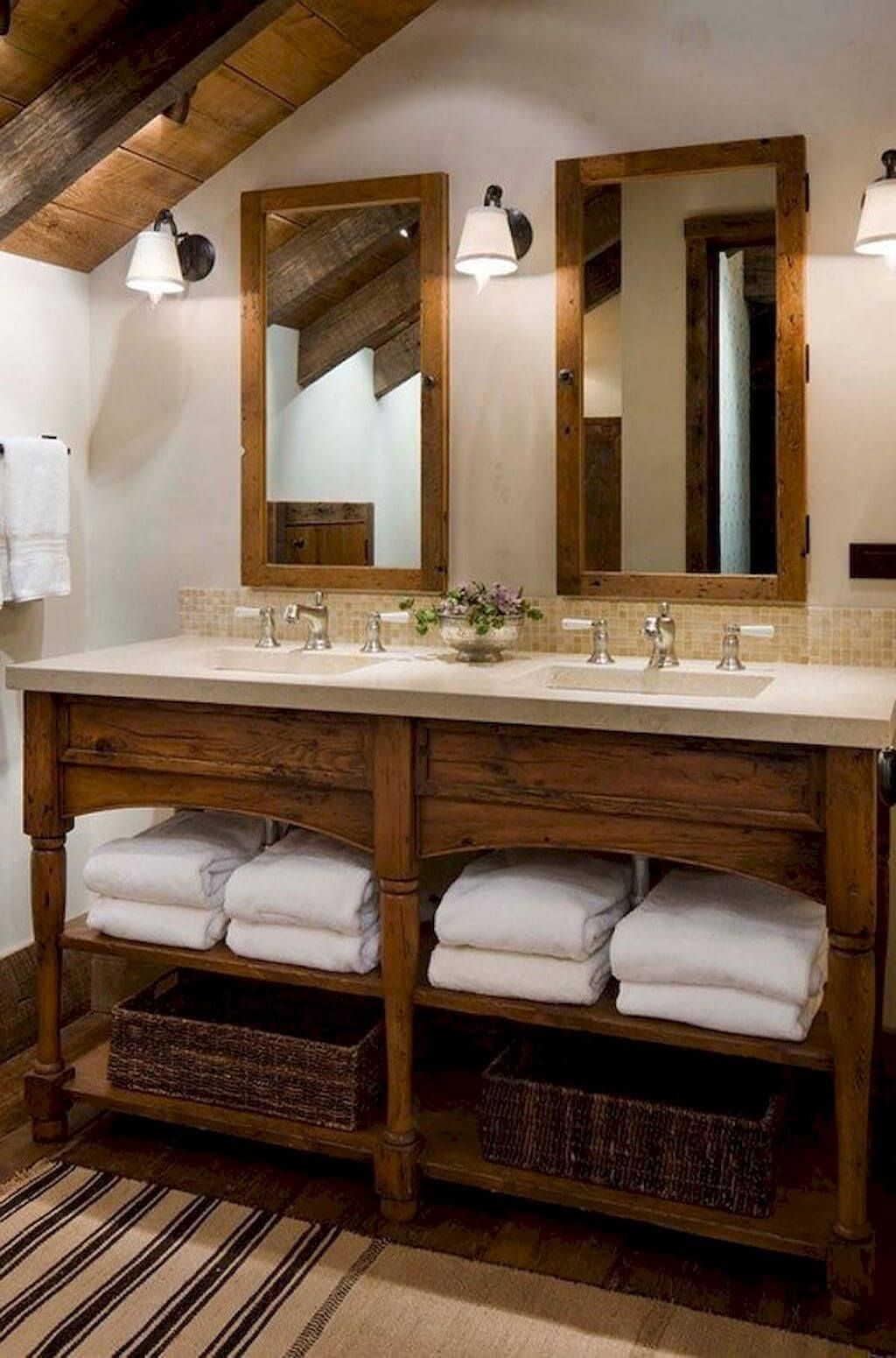 Photo of 35 rustikale Badezimmer-Eitelkeits-Ideen, zum Ihrer nächsten Erneuerung anzuregen – Neue Dekor