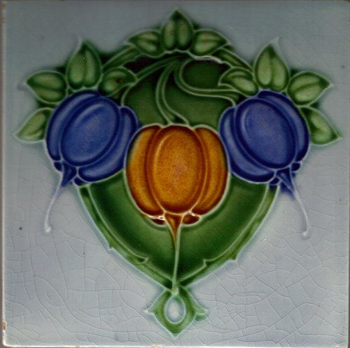 Looks Like Fruits Or Vegetables Art Nouveau Tiles Tile Art Art Nouveau