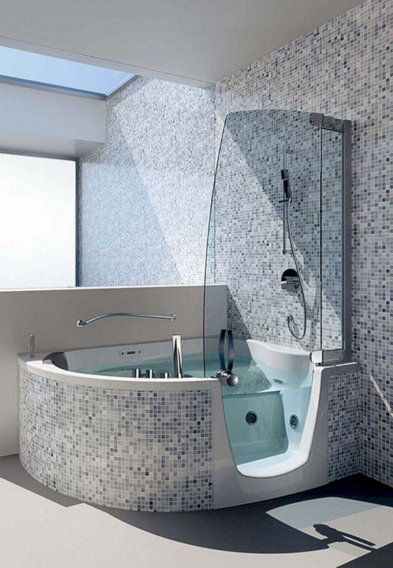15 Elegant Space Saving Ideas For Tiny Bathroom Bathroomideas Bathroomdesign Bathroomdecor Tub Shower Combo Bathroom Tub Shower Combo Shower Tub