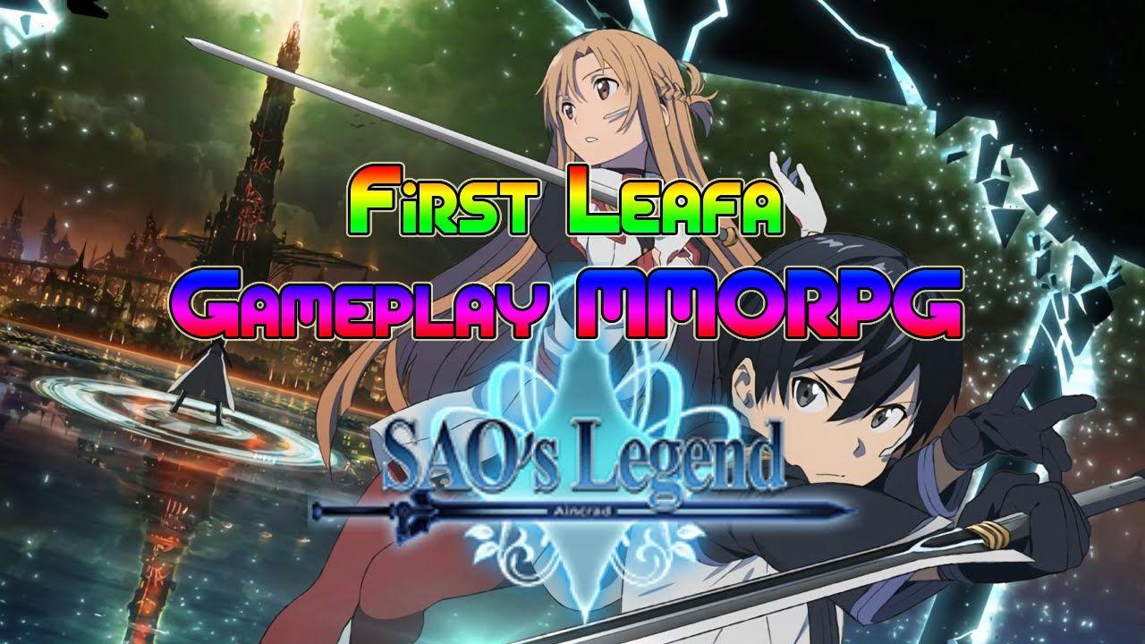 SAO's Legend : Aincrad First Leafa Gameplay MMORPG   Sword