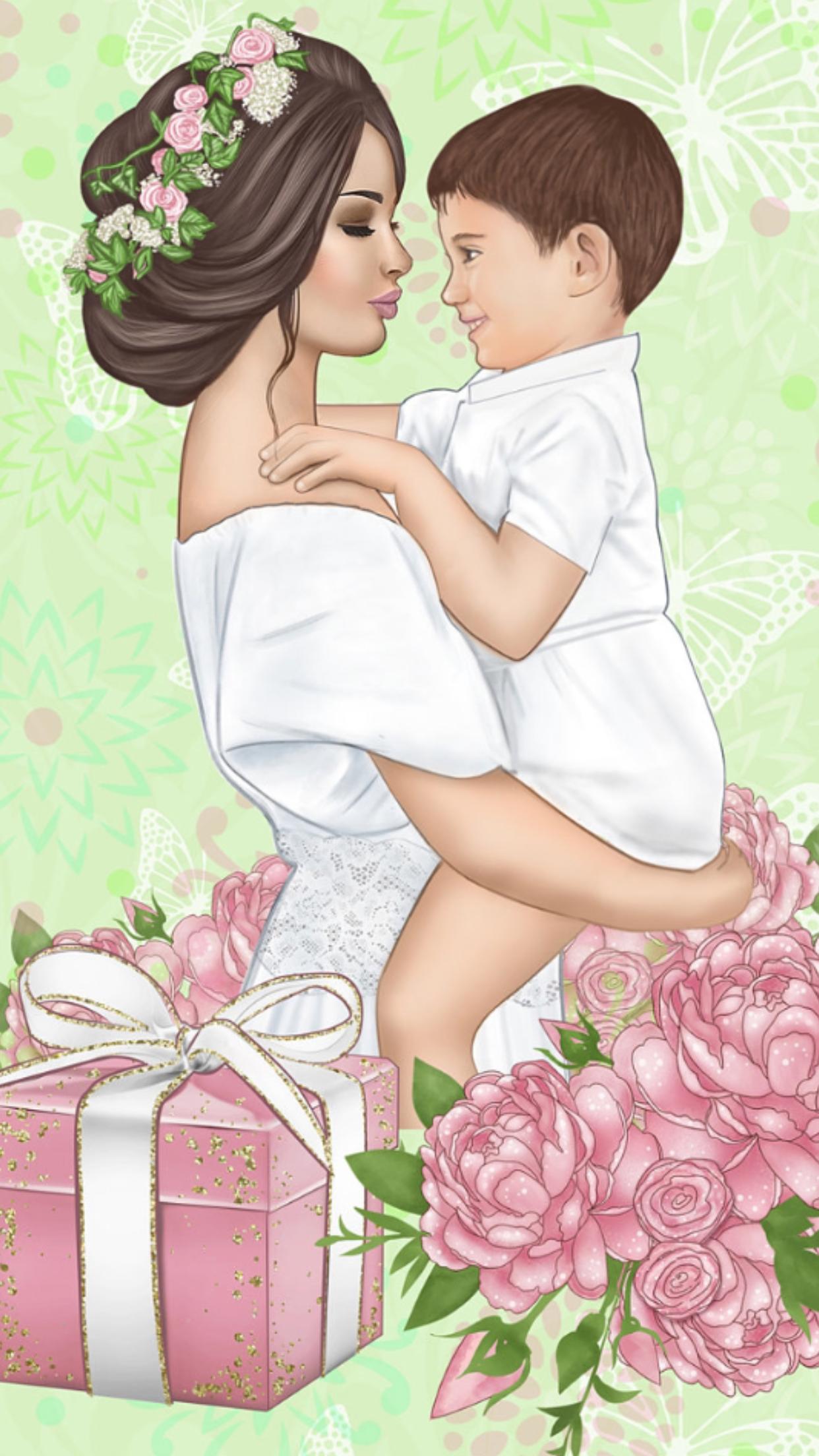 Diseno Madre E Hija Dibujo