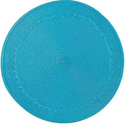 Amazon.com - Kay Dee Designs Easy Living Round Braided Polypropylene Placemats, Round Braided Texture Placemats, Set of 4 (Turquoise) -