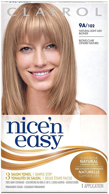 Clairol Nice N Easy Hair Color Natural Light Ash Blonde 102