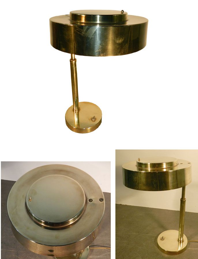 Lampe Laiton Art Deco Moderniste 1920 1930