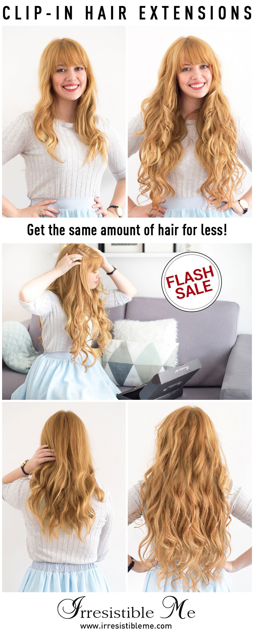 Make A Dramatic Hairstyle Change With Irresistible Me 100 Human Remy Clip In Hair Extensions You Can Add Length Clip In Hair Extensions Hair Hair Extensions