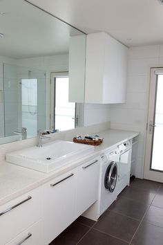 20 small laundry with bathroom combinations house design and decor - Bathroom Laundry Room Combo Floor Plans