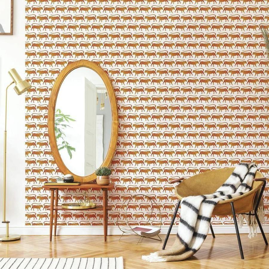 Catcoq Jaguars Peel And Stick Wallpaper In 2021 Peel And Stick Wallpaper Room Visualizer Wallpaper