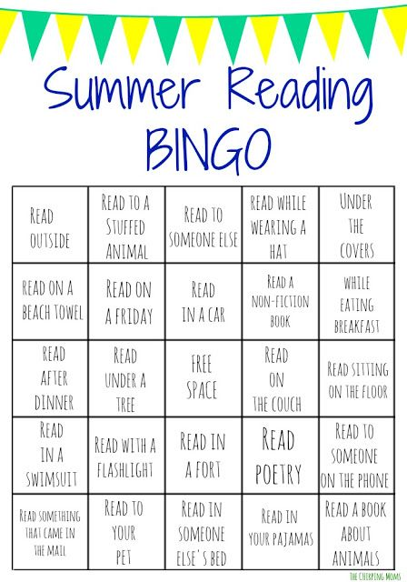 Summer Reading Bingo Challenge for Kids (Free Printables #summerfunideasforkids