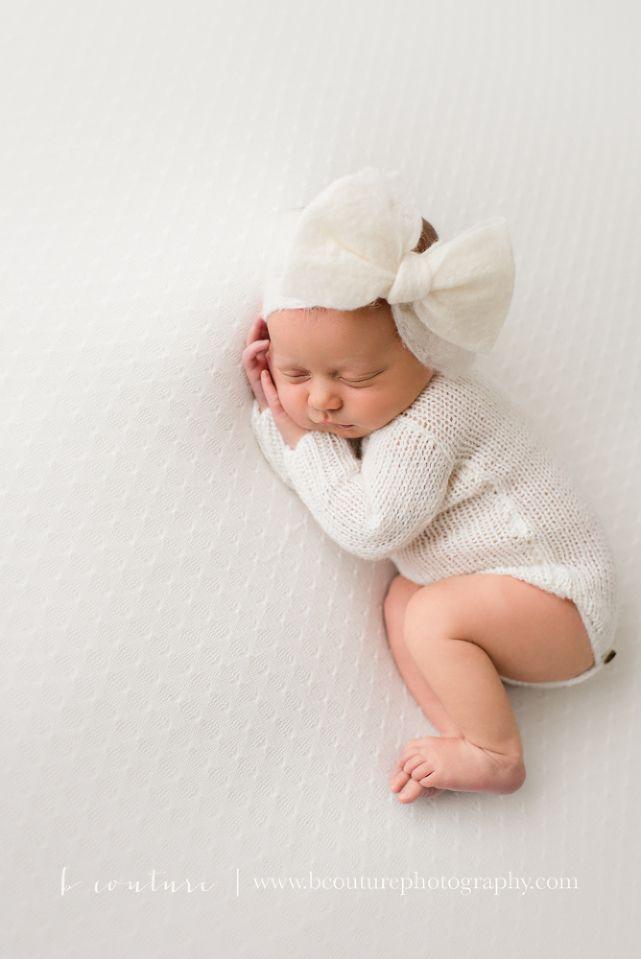 B couture newborn photography all white organic newborn photography