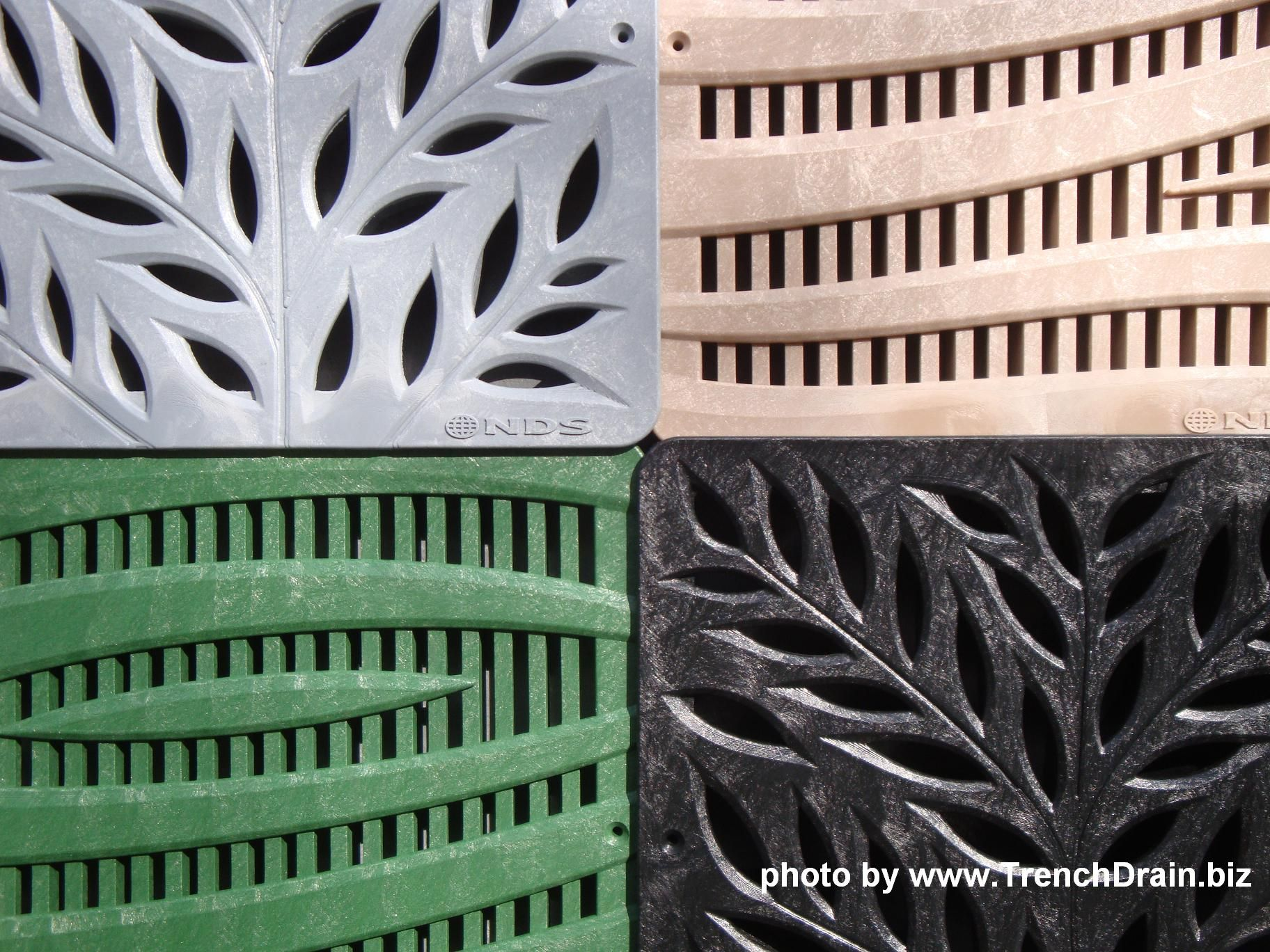 Decorative Yard Drainage : Nds trench drain decorative plastic grates