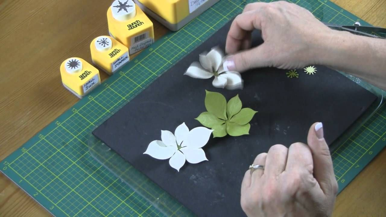 Making Paper Flowers -- Poinsettia