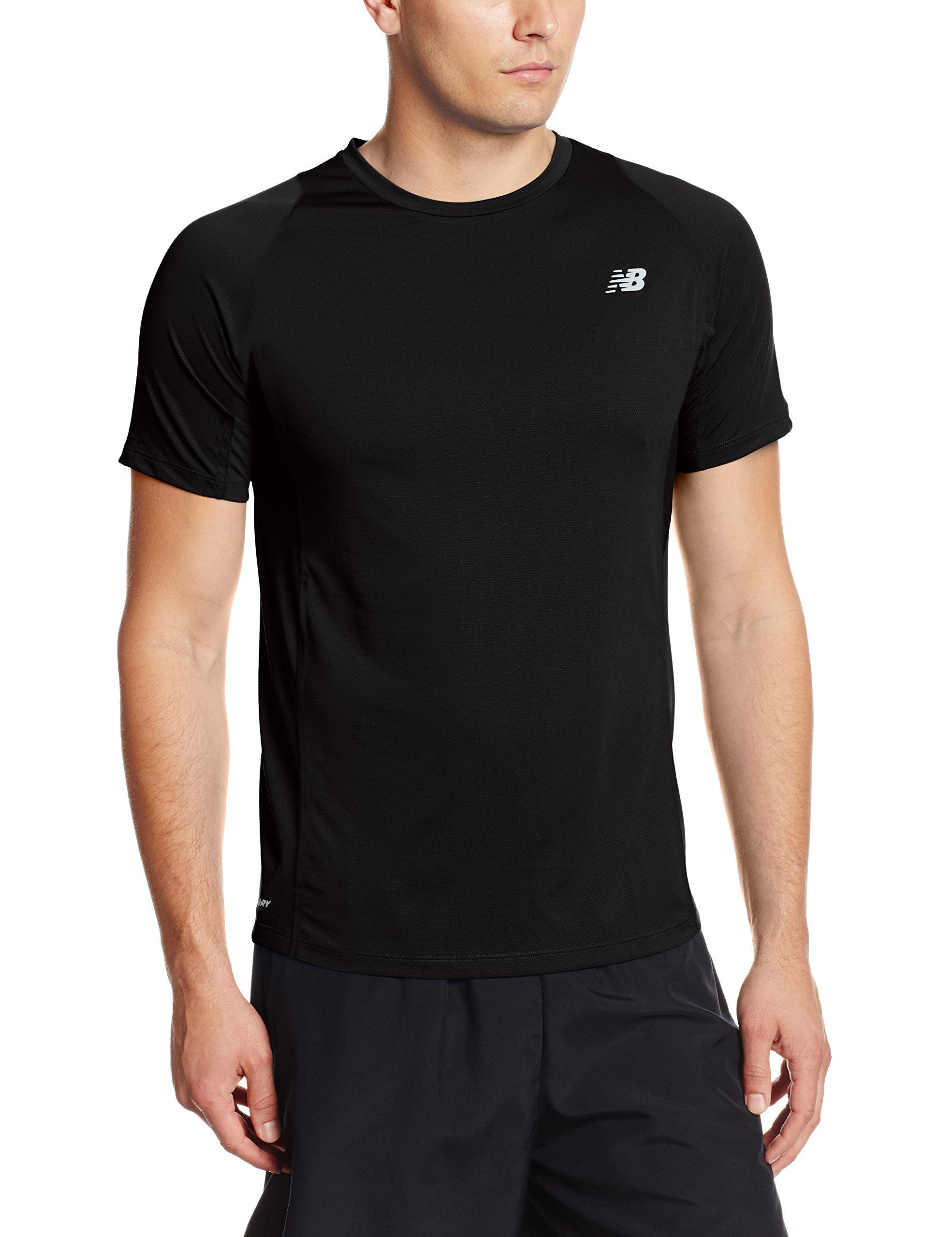 b98c46c1 New Balance Men's Accelerate Short Sleeve Top, Black, Small. NB Dry ...