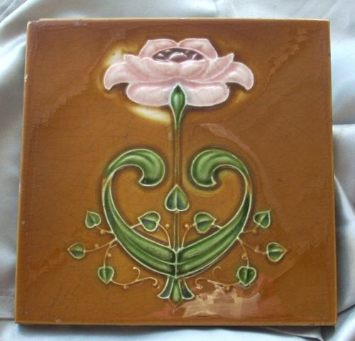 Art Nouveau Tile by Alfred Meakin Co | eBay