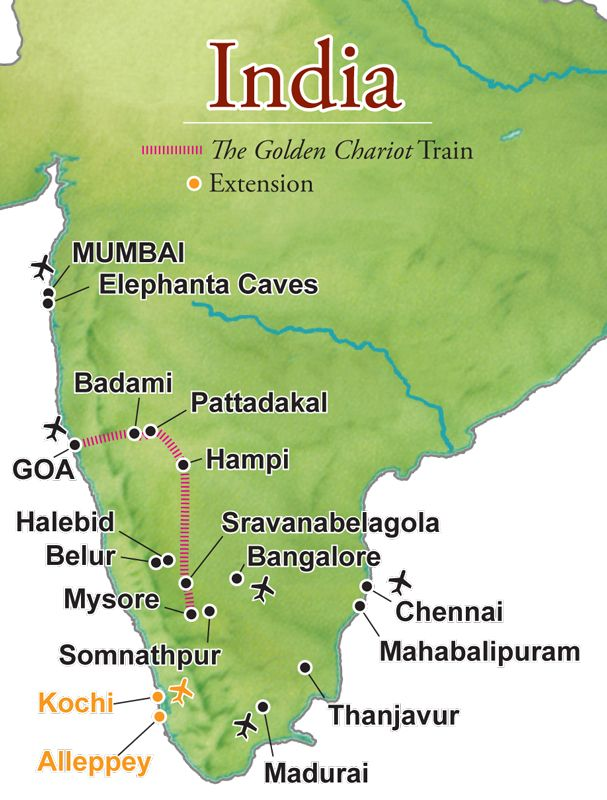 Southern India abounds in just about everything a traveler might desire: a rich and lengthy history manifest in outstanding archaeological and religious sites and architecture; marvelous cuisine and handicrafts; plus a variety of landscapes and myriad exotic flora and fauna.