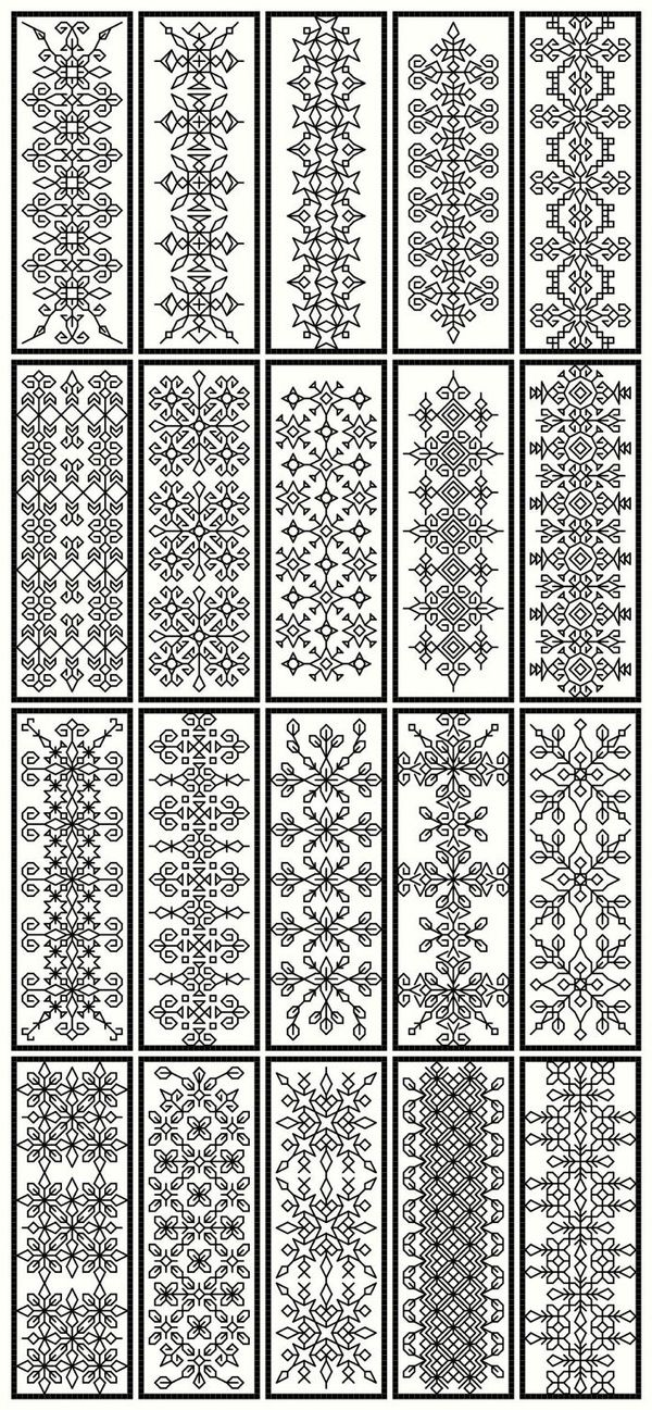 traditional blackwork embroidery designs as doodle fodder!! | ie ...