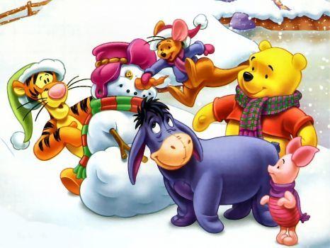 pooh christmas-3 (221 pieces) PUZZLES Pinterest