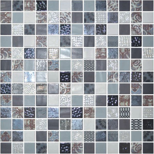Glass Onix Cosmic Arezzo 1x1 Glass Mosaic Blend Glass Tile Mosaic Glass Tiles