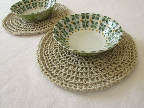 How To Crochet A Round Placemat Google Search Crochet Placemat Patterns Placemats Patterns Crochet Coasters Free Pattern