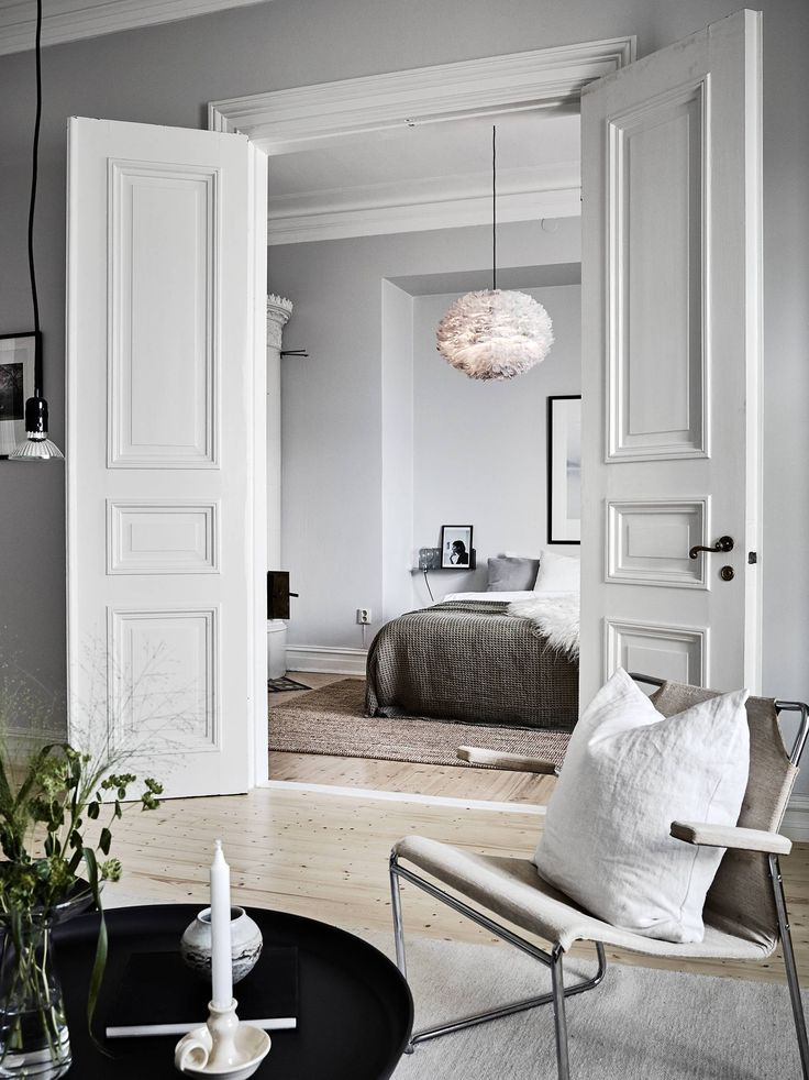 Living room inspiration Grey painted bedrooms, Vintage chairs and