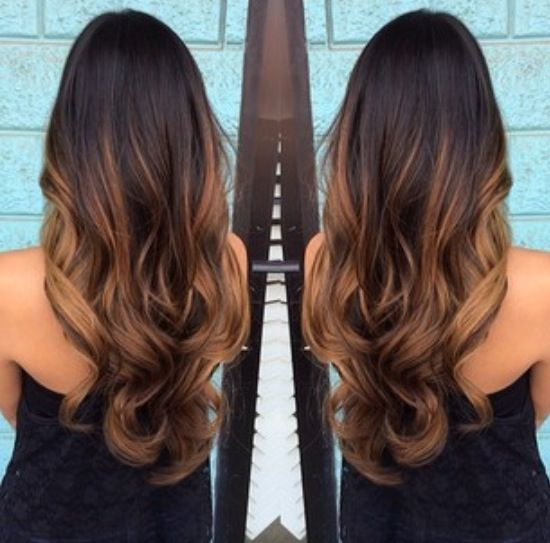 Chocolate Brown With Caramel Balayage Ombre With Images Hair