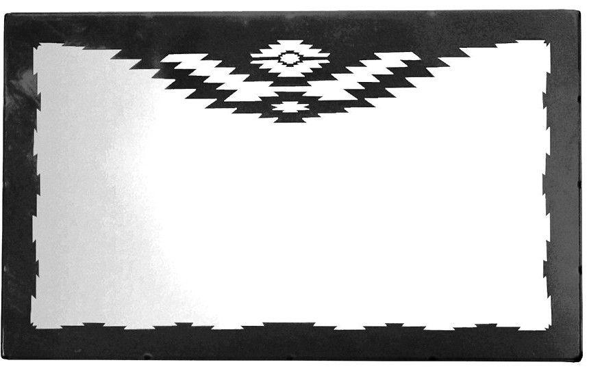 Navajo Geometrical Design Horizontal Southwest Wall Mirror