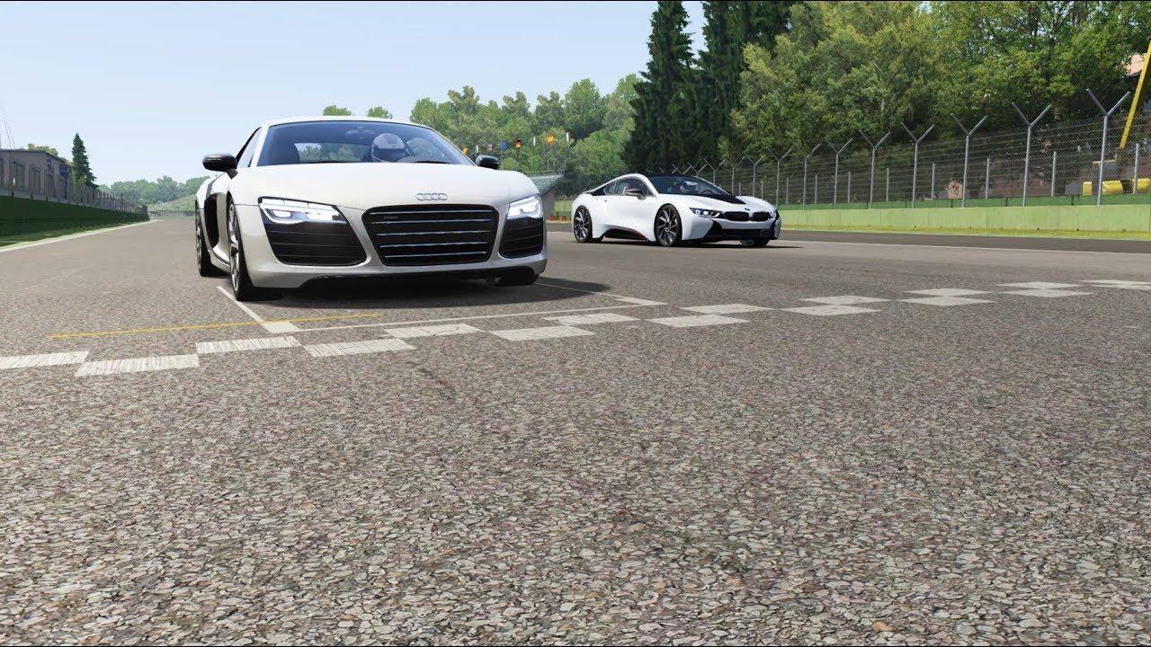 Bmw I8 Hamann Motosport Vs Audi R8 V10 Plus At Imola Audi R8 V10 Bmw I8 Audi R8