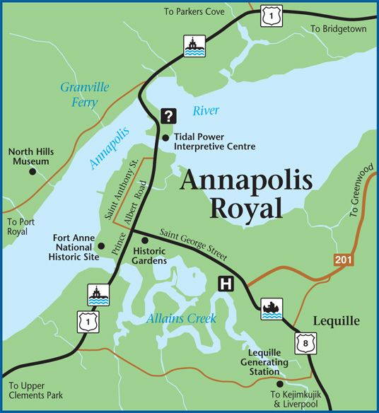 Map Of Annapolis Royal Home Of Some Of My Ancestors I Love - Anápolis map