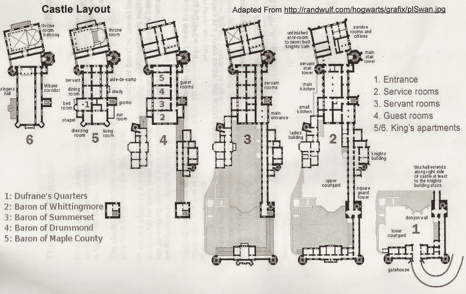 The Castle in Cobblepot's BIg Score Castle floor plan
