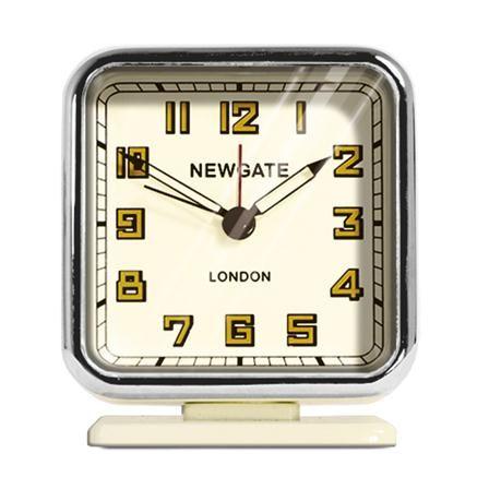 Reloj despertador Strand de Newgate, crema