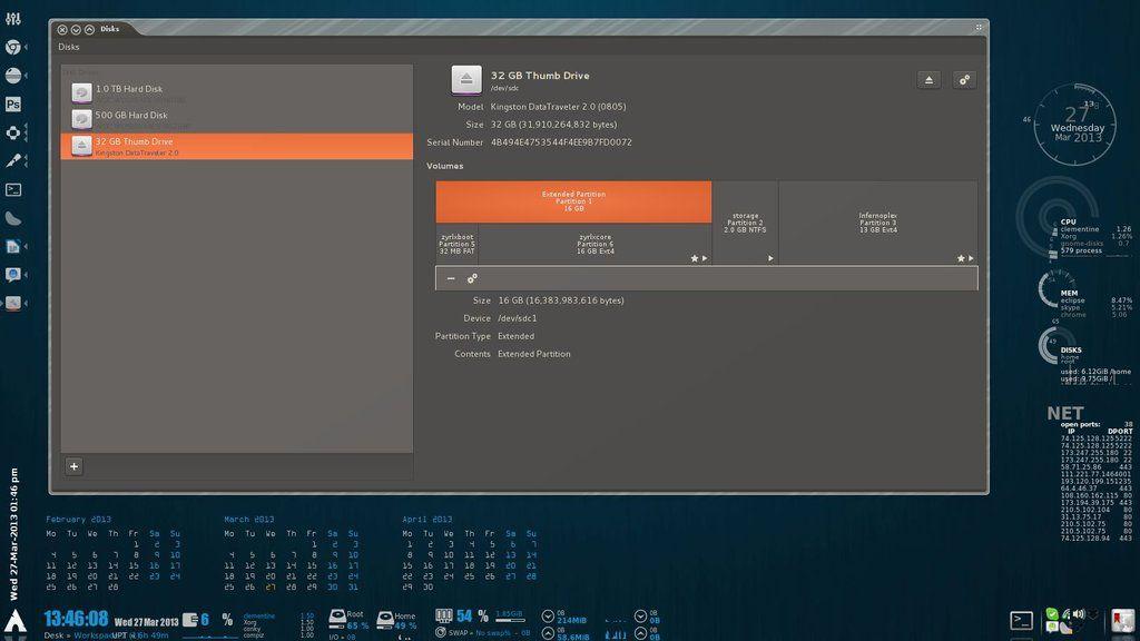 Arch Linux Desktop + Conky by ZYrlleX deviantart com on