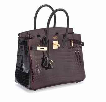 7b4b1b538630 A SPECIAL ORDER HORSESHOE 30CM SHINY BORDEAUX   GRAPHITE NILO CROCODILE  BIRKIN BAG WITH GOLD HARDWARE