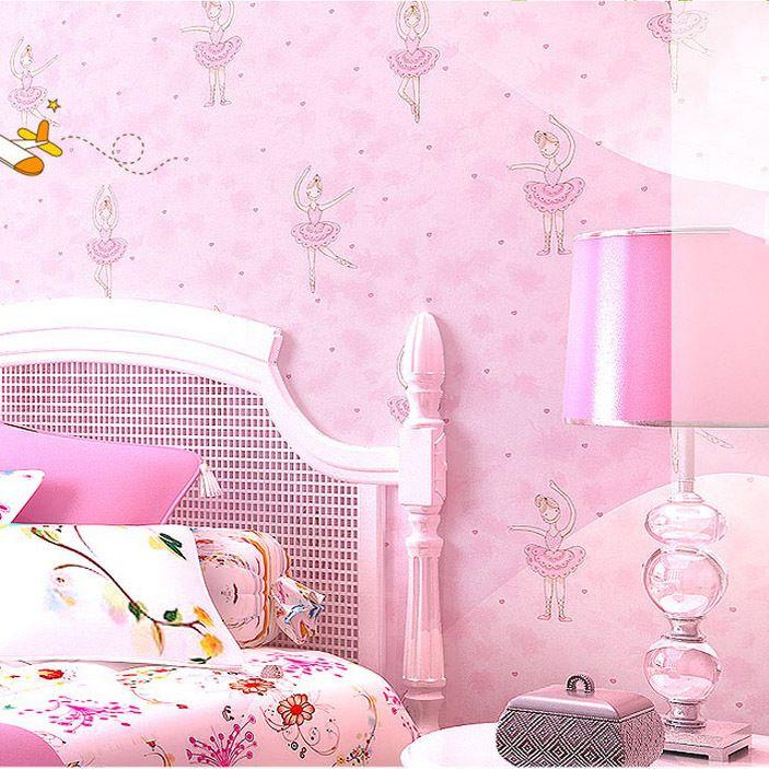 Barato rosa dan arinas infantis meninas naturais papel de - Papel para pared barato ...