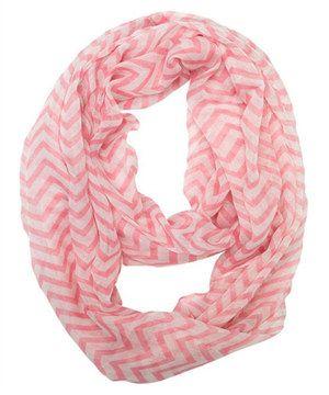Look what I found on #zulily! Light Pink Zigzag Infinity Scarf by White Plum #zulilyfinds
