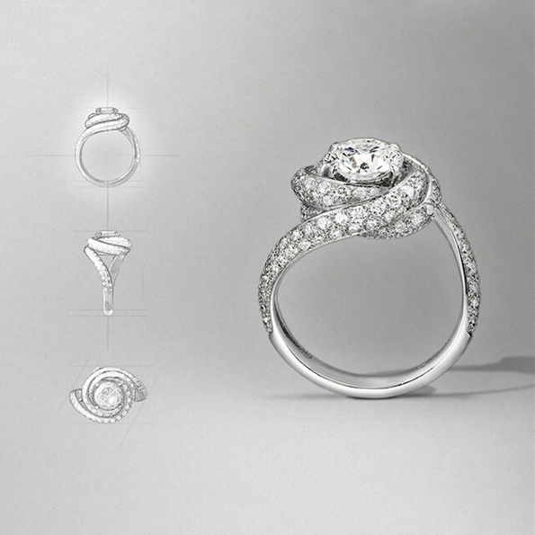 a903093b8bb92 Dream Ring : Cartier Trinity Ruban SOLITAIRE RING Platinum, diamonds ...