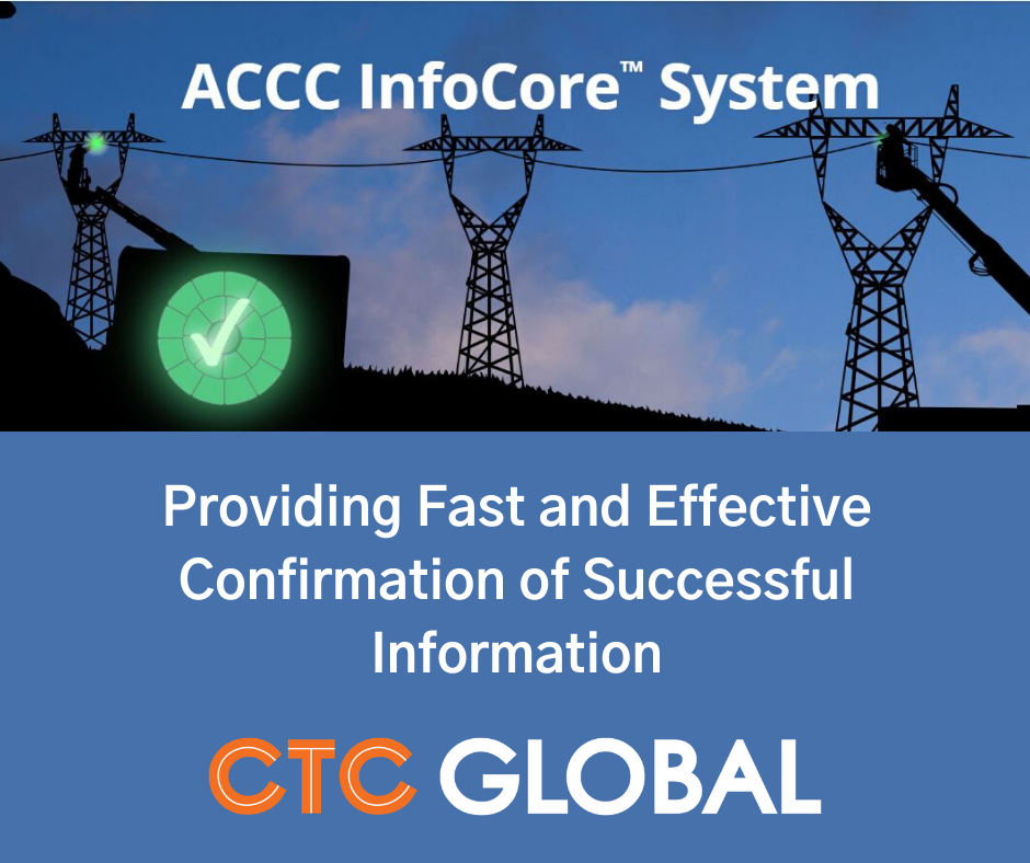 Accc Infocore System Reduces Real World Conductor Installation Risk In 2020 Data Capture System Conductors