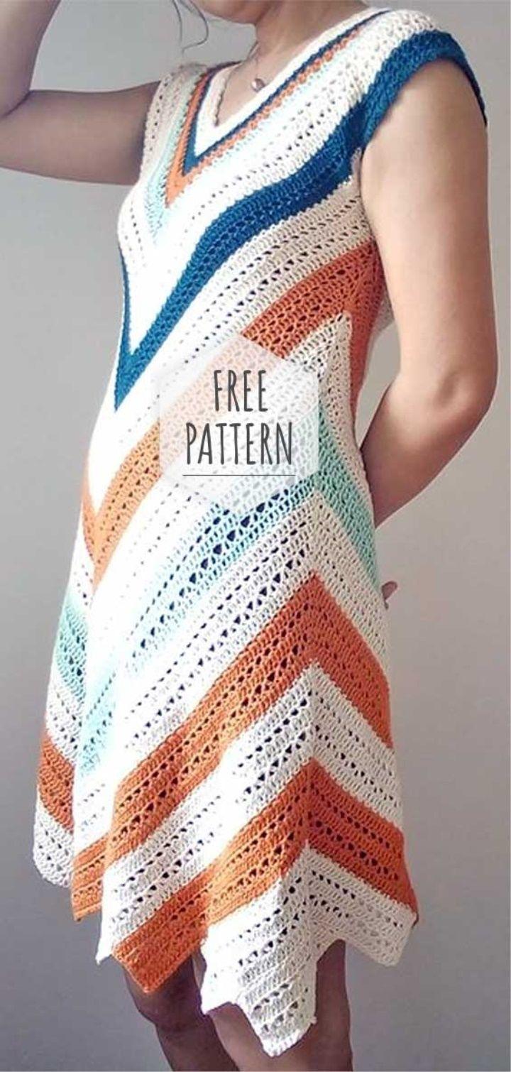 Crochet Colorful Summer Dress #crochetdressoutfits
