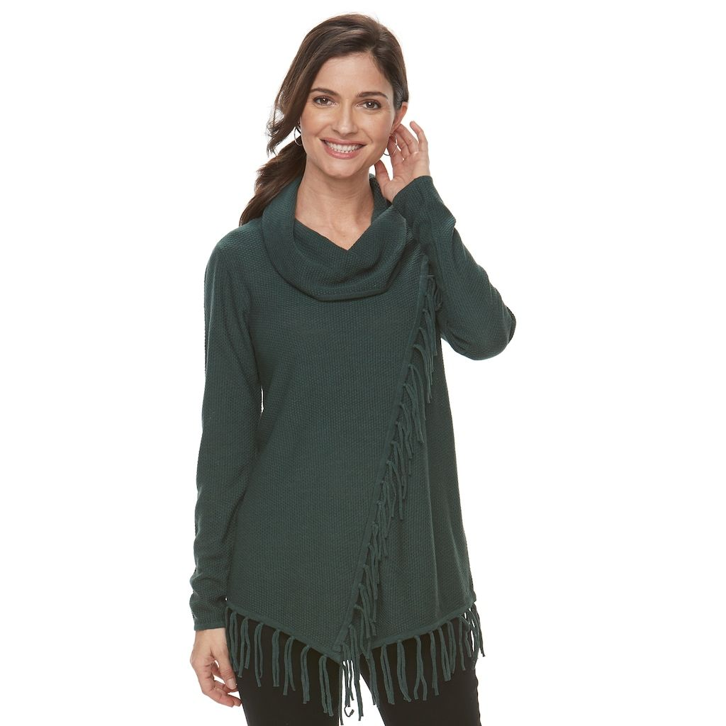5c722aed Cowl Neck Top · Tunic Tops · Women's Croft & Barrow® Poncho Sweater,  Size: Medium, Blue Other Poncho