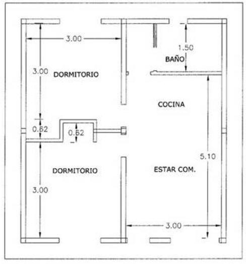 planos de casas 60 metros cuadrados