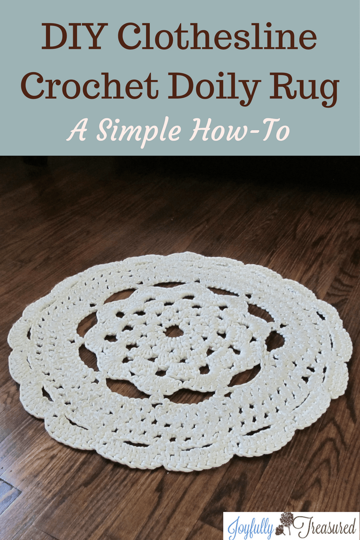 simple rug patterns. DIY Clothesline Crochet Doily Rug. How To A Simple Pattern Round Rope Rug Patterns