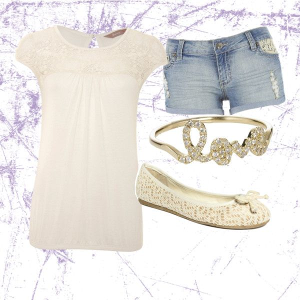 Creamy Lace, created by saraaaabeth on Polyvore