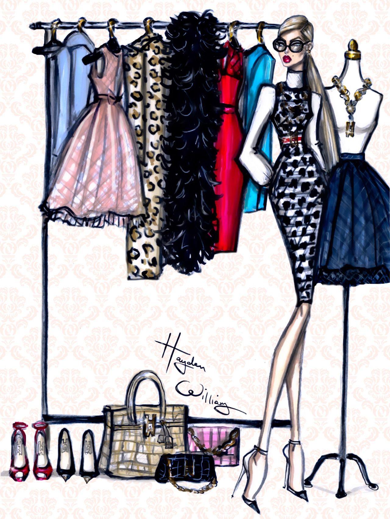 Hayden Williams Fashion Illustrations Photo Ilustracoes De