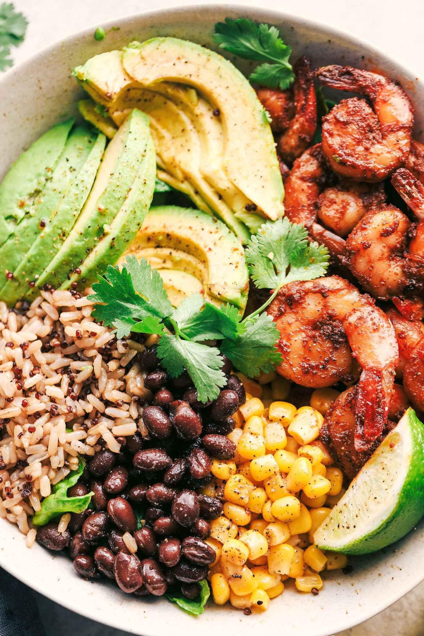 Photo of Blackened Shrimp Avocado Burrito Bowls – Recipes de