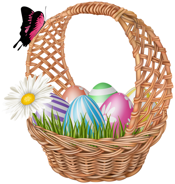 Easter Basket With Butterfly Clipart Image Butterfly Clip Art Clip Art Free Clip Art