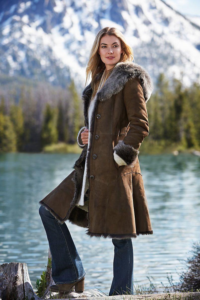 OverlandTheodora Hooded Toscana Sheepskin Coat