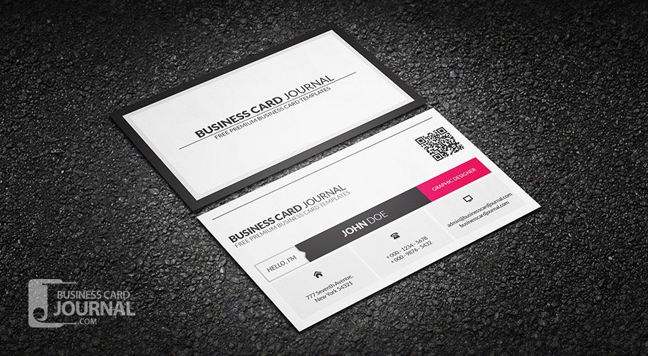 Free Clean Qr Code Metro Style Business Card Template More At