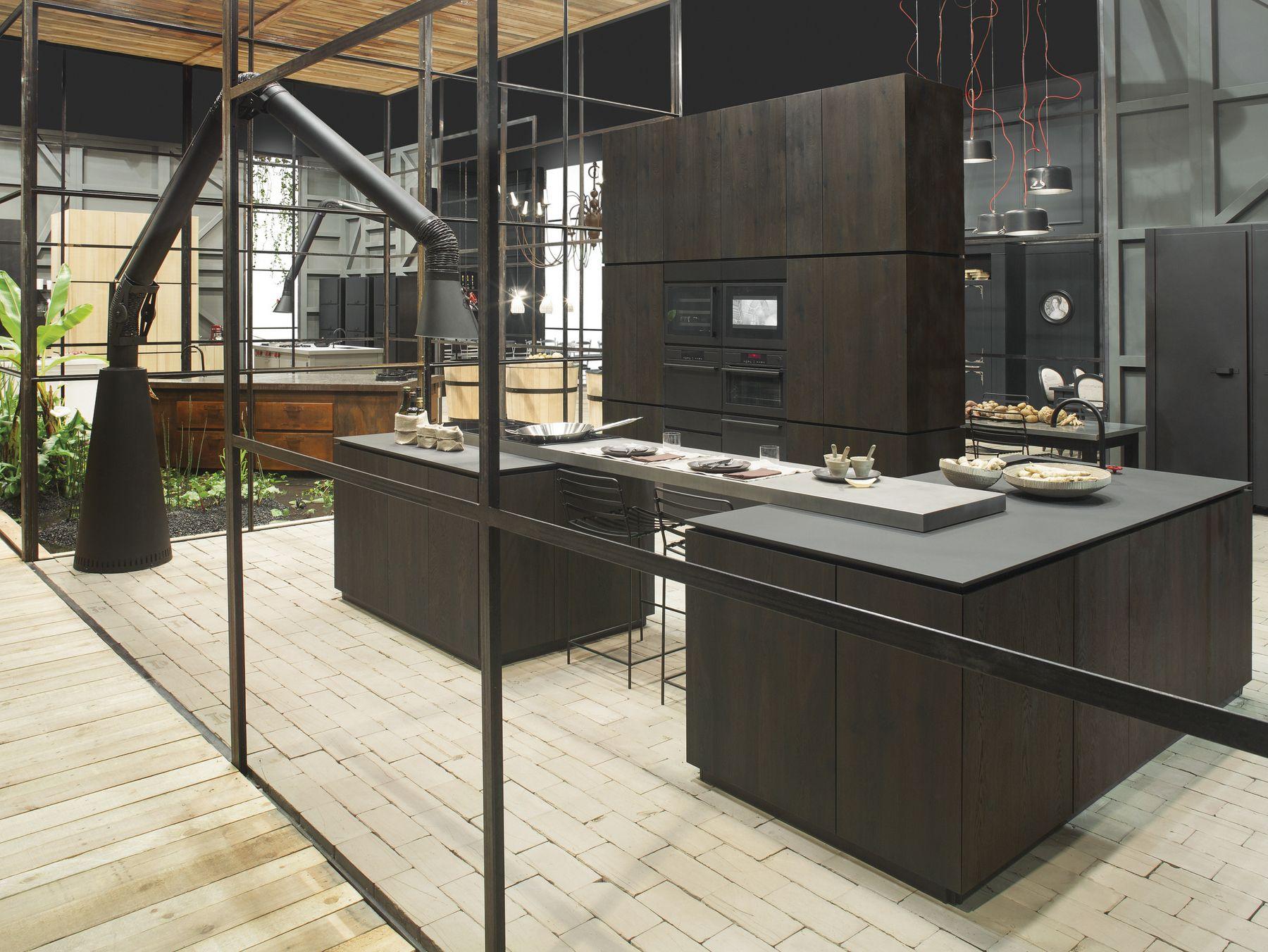 Wood Fibre Kitchen With Island NATURAL SKIN HOME Natural Skin Collection By  Minacciolo | Design Silvio